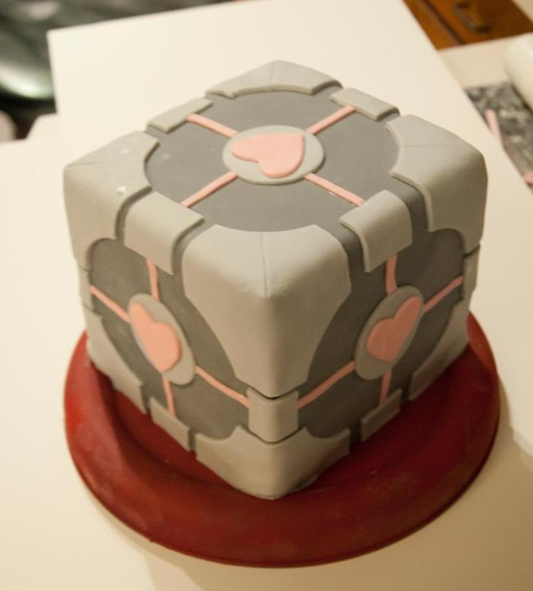 Portal-Companion-Cube-Cake-by-Highborntalon