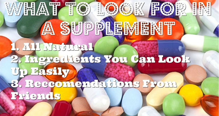 What to look for in  supplement